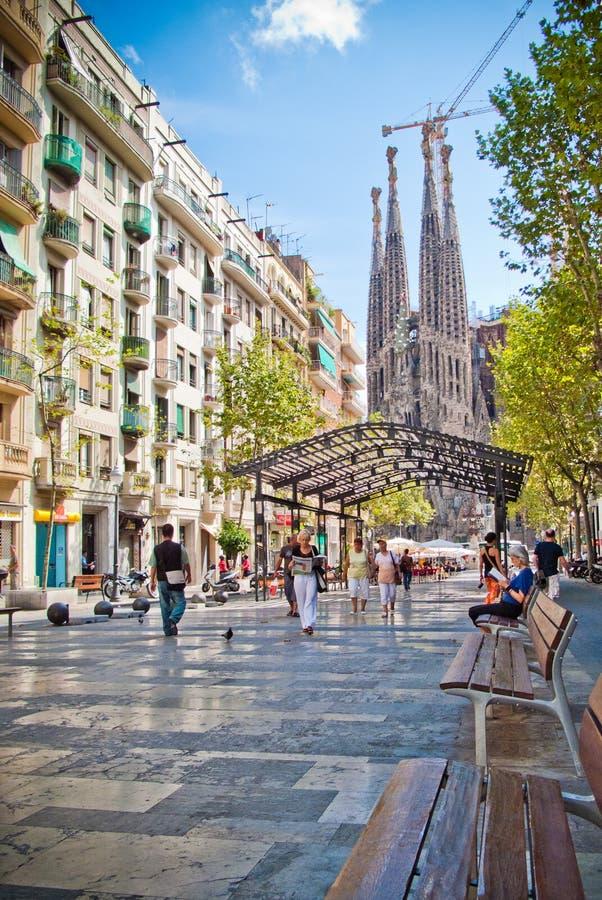 barcelona familia Sagrada zdjęcie stock