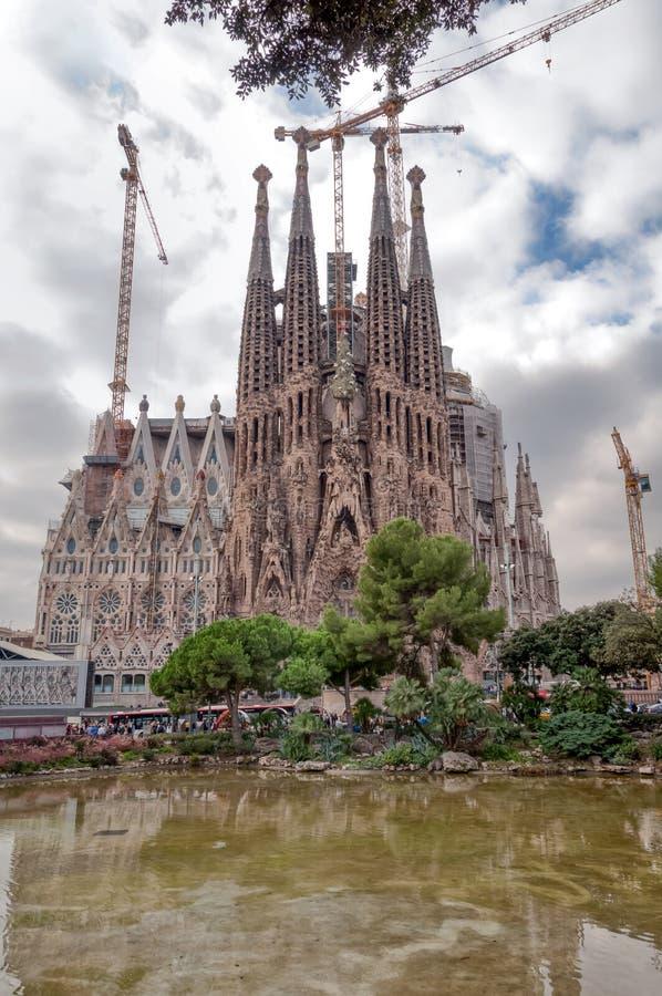 barcelona familia sagrada royaltyfria bilder