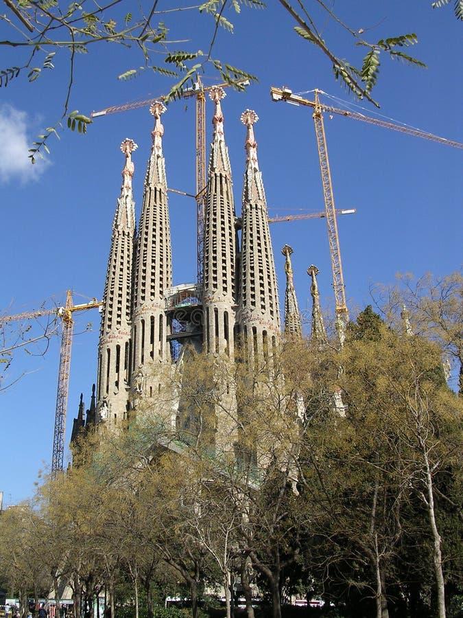 barcelona familia sagrada spain royaltyfria foton