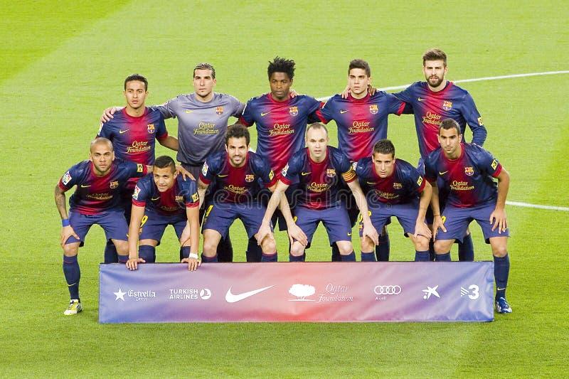 barcelona fclag royaltyfria bilder