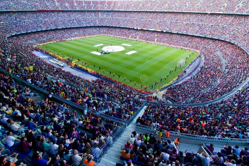 barcelona fcstadion arkivbild