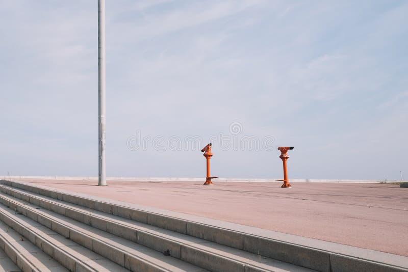 Barcelona forum sceny fotografia stock