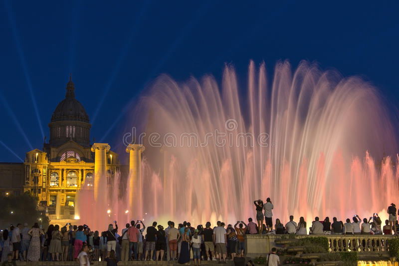 Barcelona - Fountains - Spain royalty free stock photography