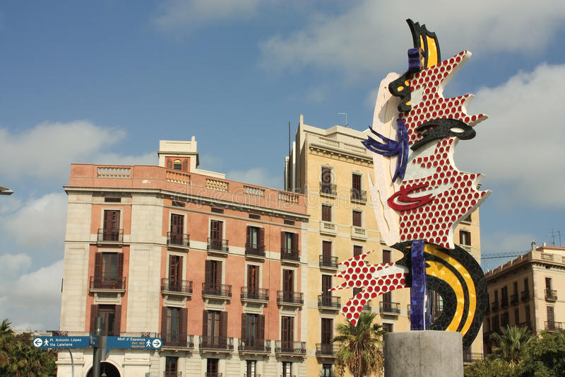 barcelona framsida royaltyfri bild