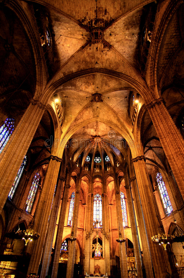 Barcelona Gothic. Oldest gothic church in Barcelona