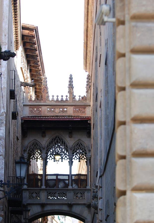 barcelona gothic kwartału, obraz stock
