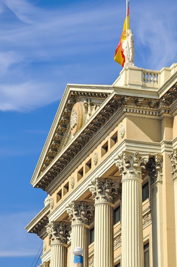 Barcelona gränsmärke, Spanien royaltyfri foto