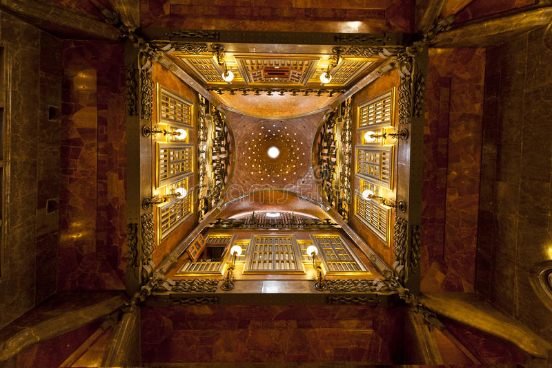 barcelona guell palau royaltyfri fotografi
