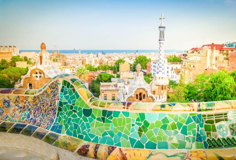 barcelona guell park zdjęcia royalty free