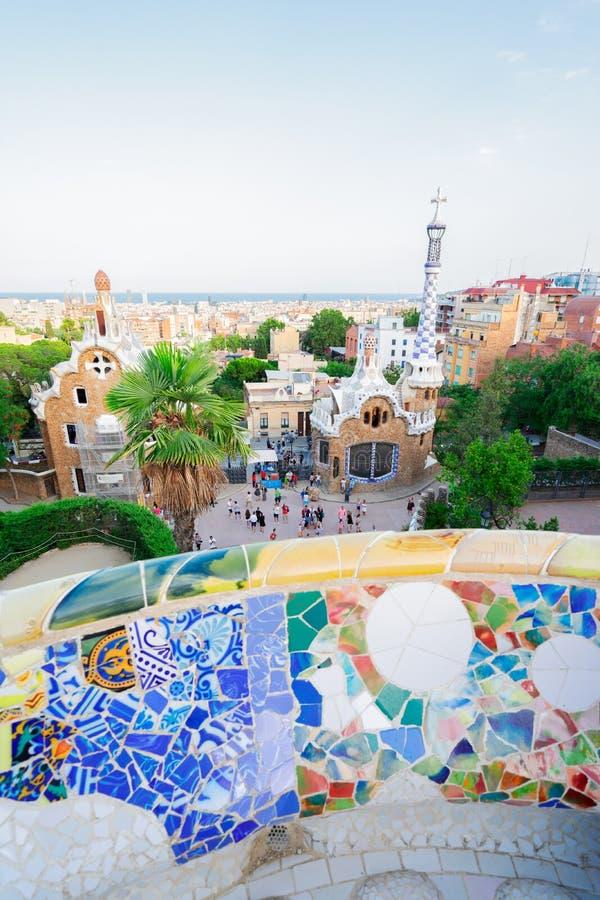 barcelona guell park obrazy stock