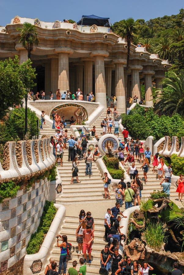 barcelona guell park Hiszpania zdjęcia stock