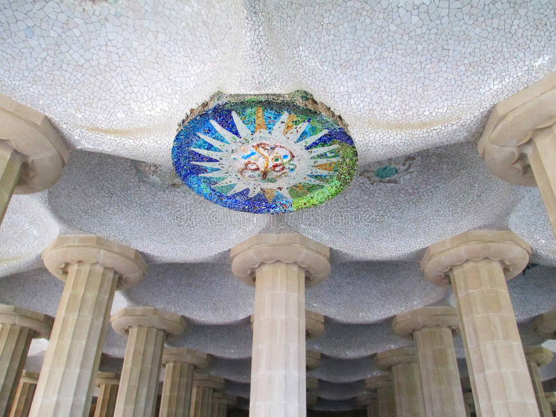 Barcelona Guell Park stock photography