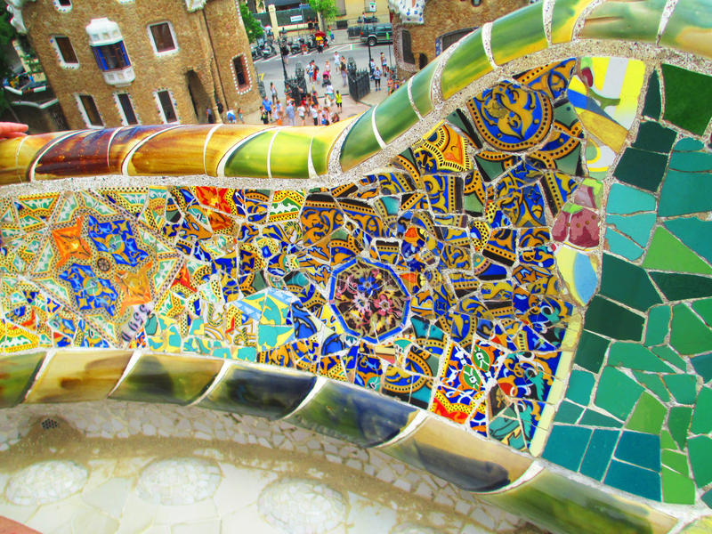 Barcelona Guell Park royalty free stock images