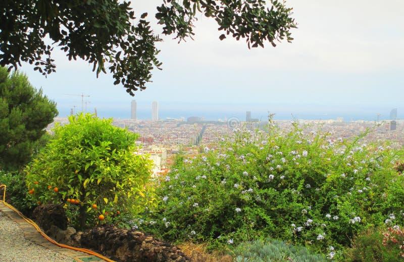Barcelona Guell Park stock photo