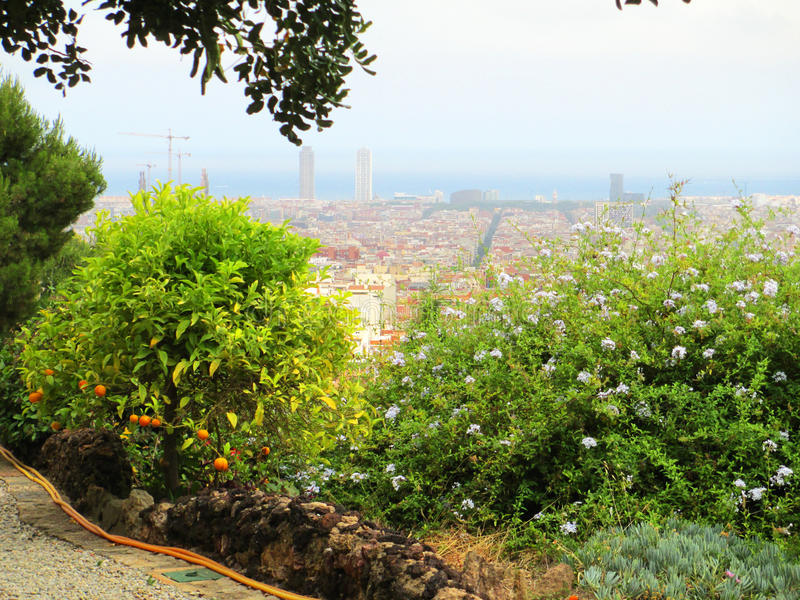 Barcelona Guell Park royalty free stock photo