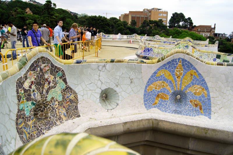 Download Barcelona guell park Spain zdjęcie stock editorial. Obraz złożonej z kolumna - 20480928