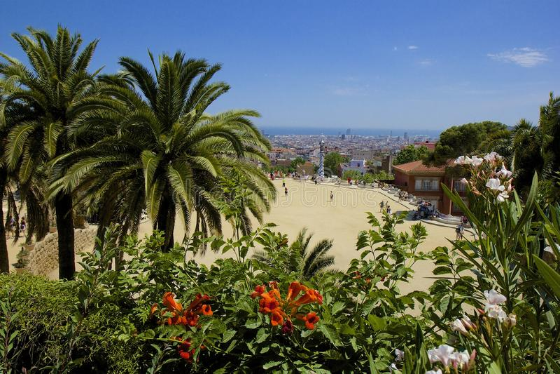 barcelona guell park Spain obrazy stock