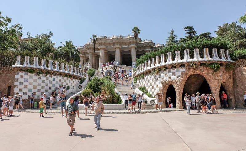 barcelona guellpark arkivfoton
