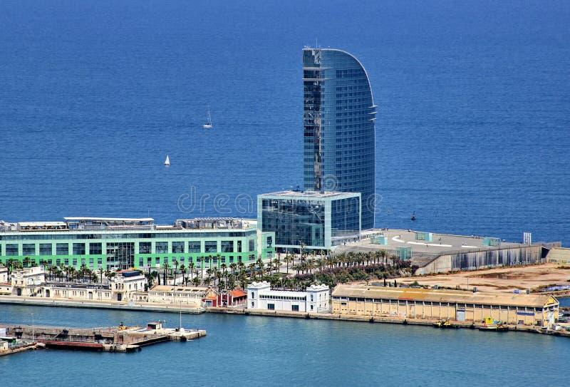 Barcelona hamn arkivbilder