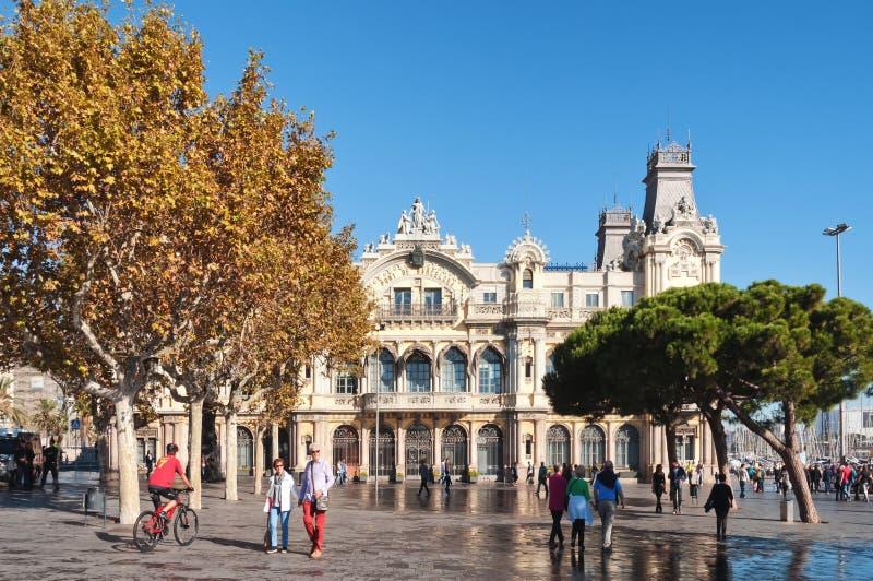 Barcelona hamn royaltyfria foton