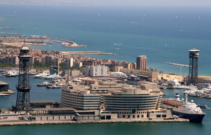 Barcelona harbor stock image