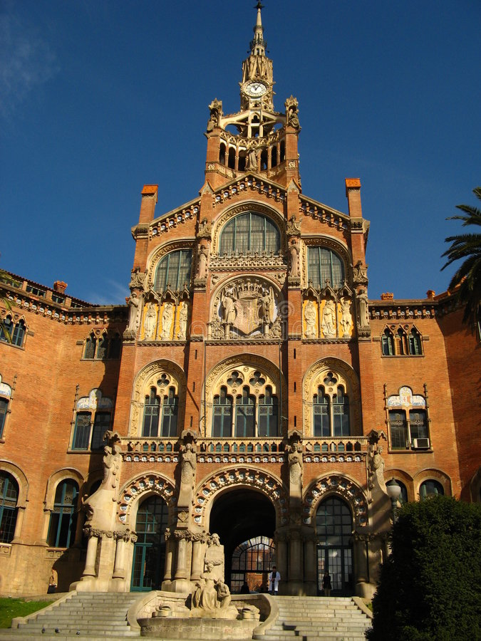 Barcelona, het Ziekenhuis Sant Pau 12 royalty-vrije stock afbeeldingen