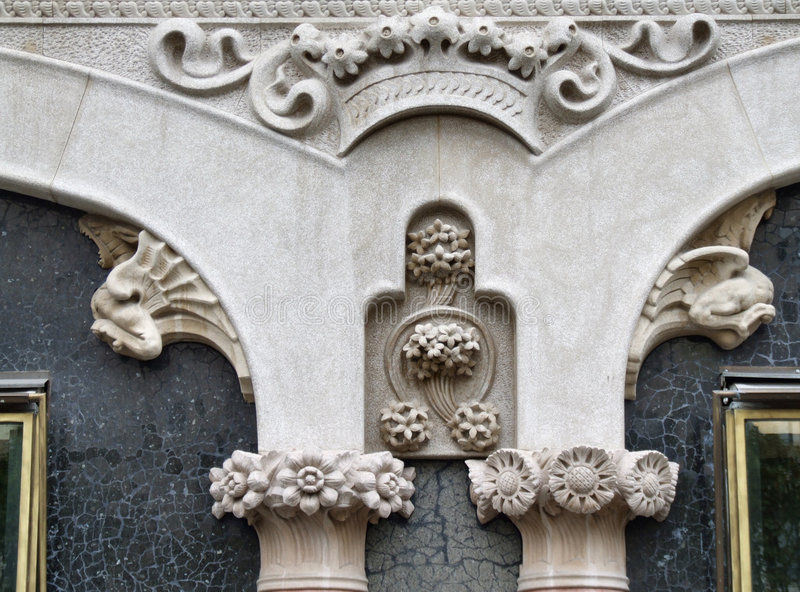Barcelona historic architecture detail stock photos
