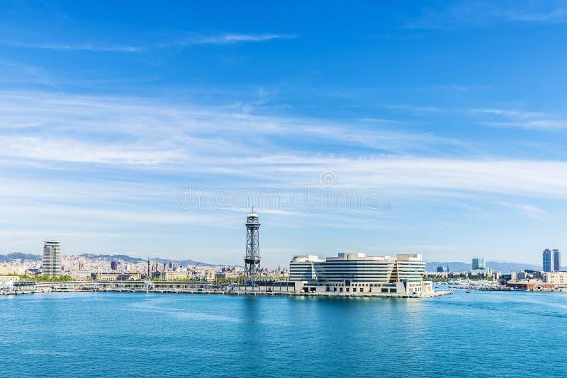 barcelona horisont arkivfoton