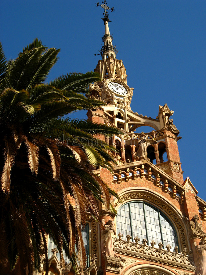 Barcelona,Hospital Sant Pau 11 stock photo