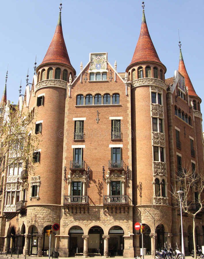 Download Barcelona house stock image. Image of home, motorcycle - 4940799