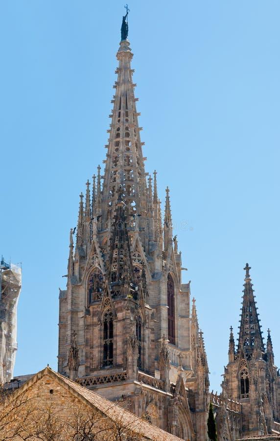 barcelona iglica katedralna fotografia stock