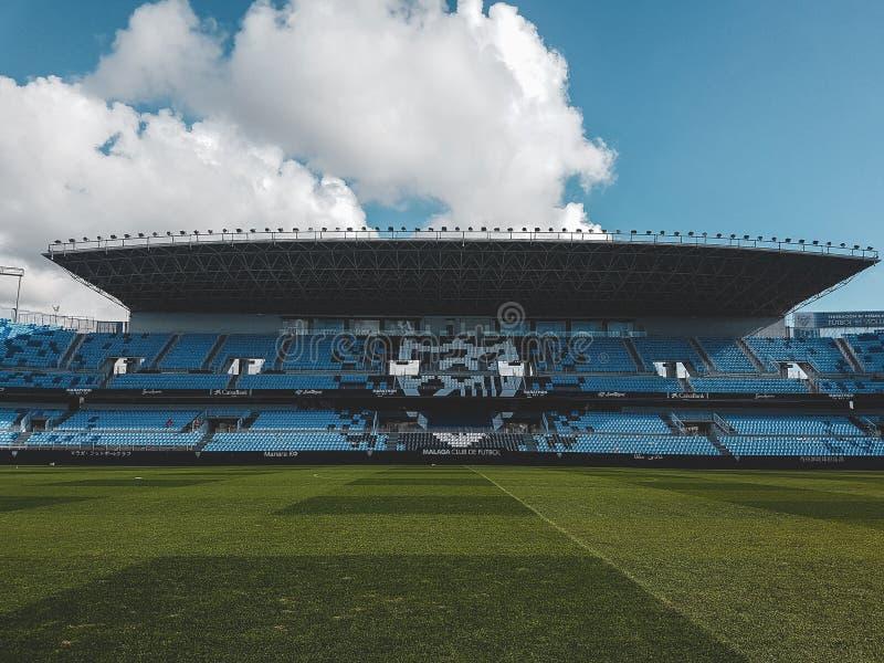 Barcelona Jersey von Patrick Kluivert in Màlaga-Stadion lizenzfreie stockfotos