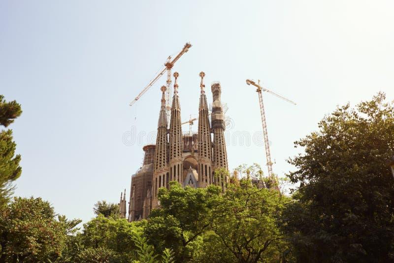 BARCELONA - JULI 29, 2016: La Sagrada Familia för Gaudiï ¿ ½ s arkivfoton