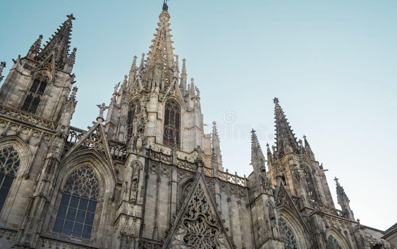 Barcelona katedra, Świątobliwi Eulalia powierzchowności szczegóły obraz royalty free