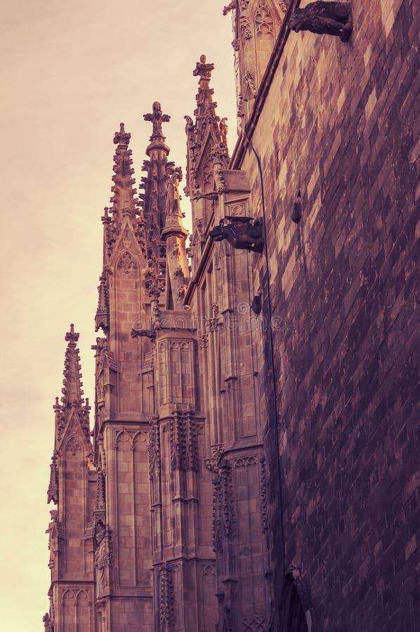 Barcelona katedry krzyże fotografia royalty free