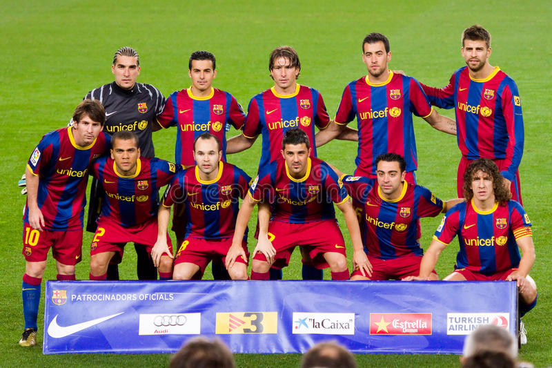 barcelona klubbafotboll 2011 arkivbilder