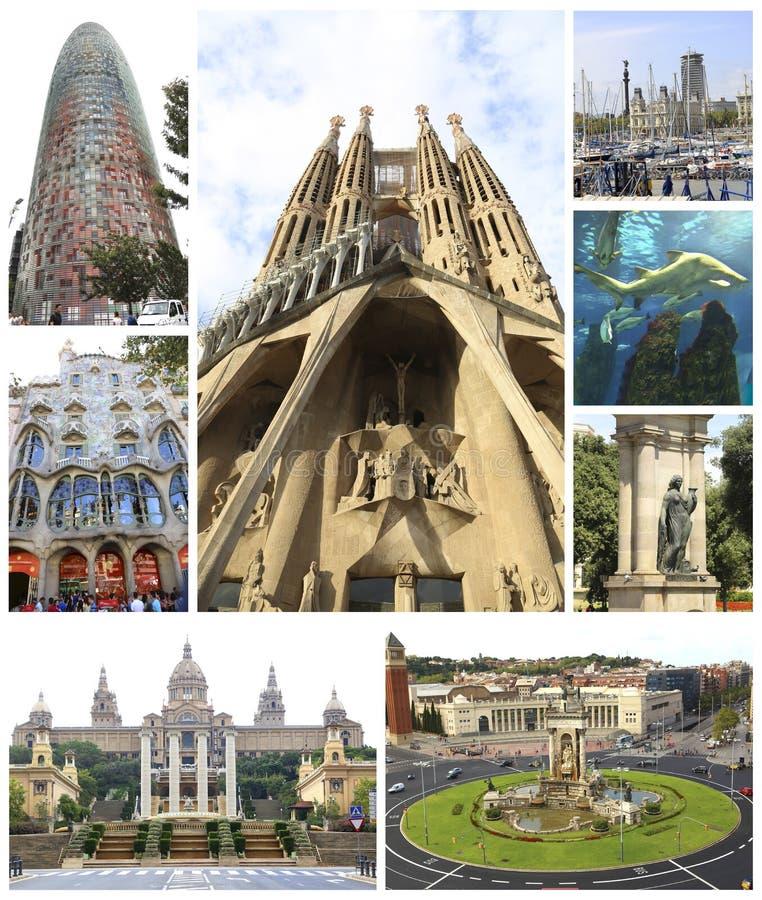 Barcelona kolaż - Hiszpania fotografia stock