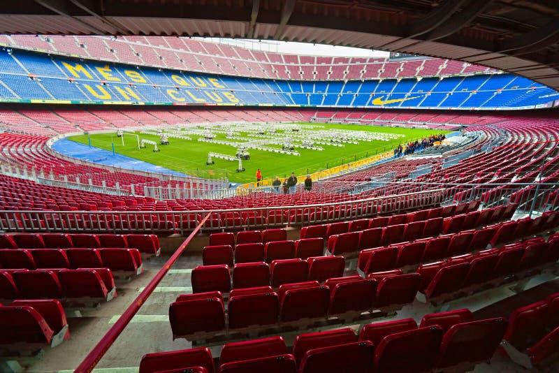 barcelona lägernou spain arkivfoton
