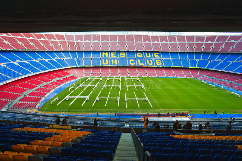 barcelona lägernou spain royaltyfria foton
