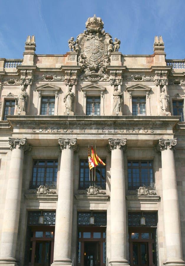 barcelona la oficina de correos imagen de archivo