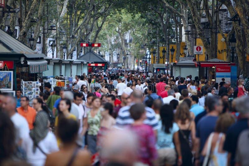 barcelona la rambla royaltyfri bild