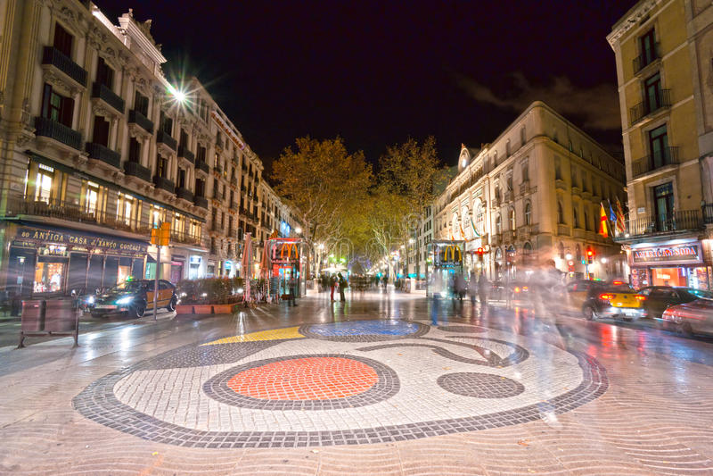 barcelona la rambla spain royaltyfria foton