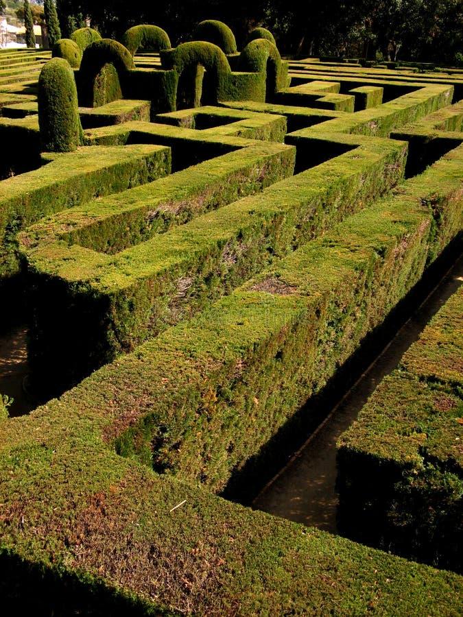 Barcelona,Laberint d'Horta 22 stock images