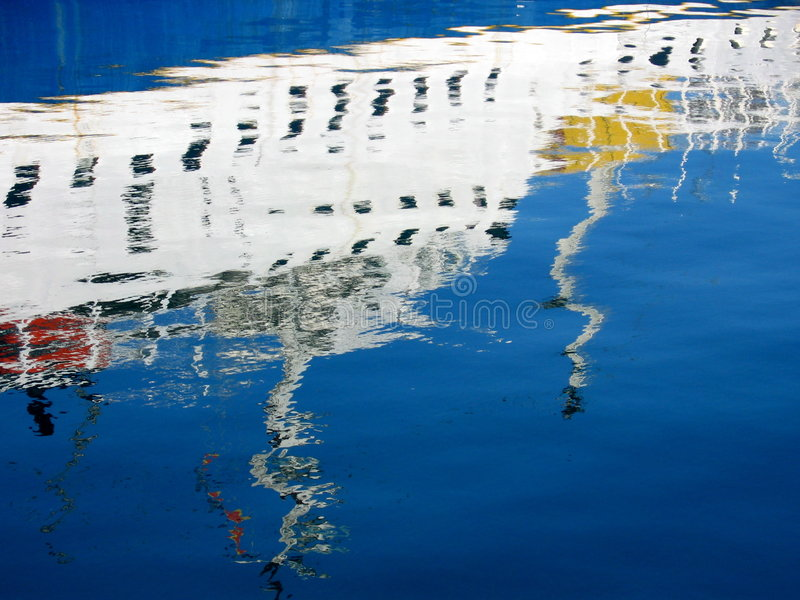 barcelona marina arkivbild
