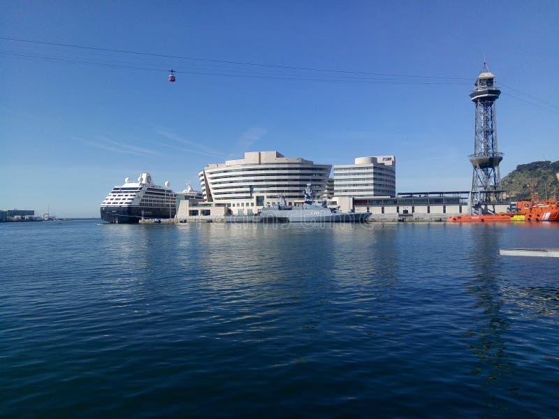 Barcelona marina arkivfoton