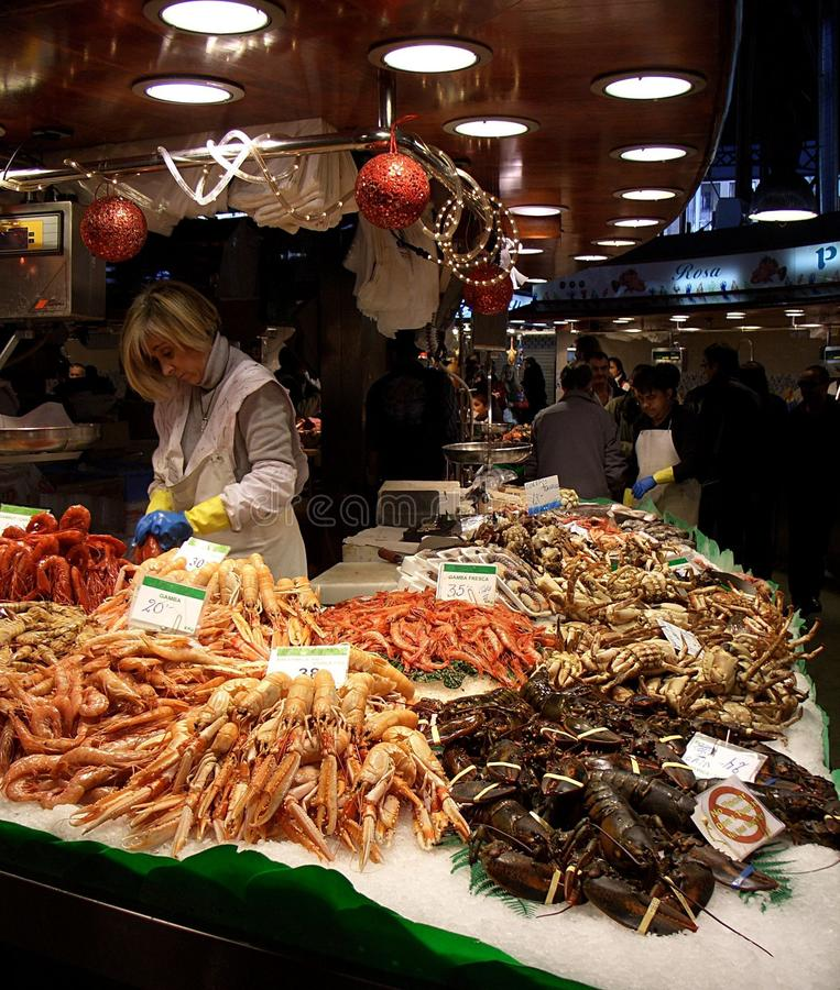 Barcelona market, Spain stock photo