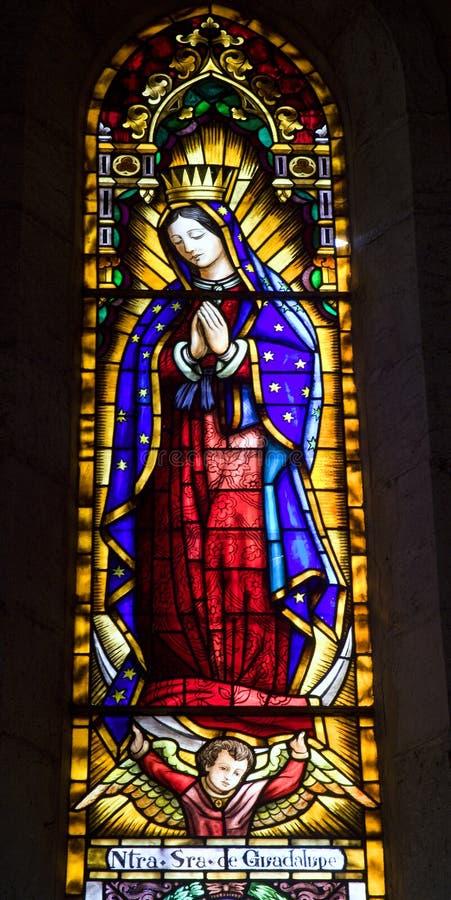 Barcelona - Mary santamente do núcleo de Jesus de Sagrad fotos de stock