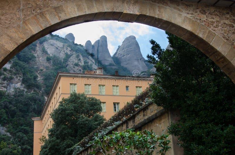 Barcelona Montserrat Spain arkivbilder