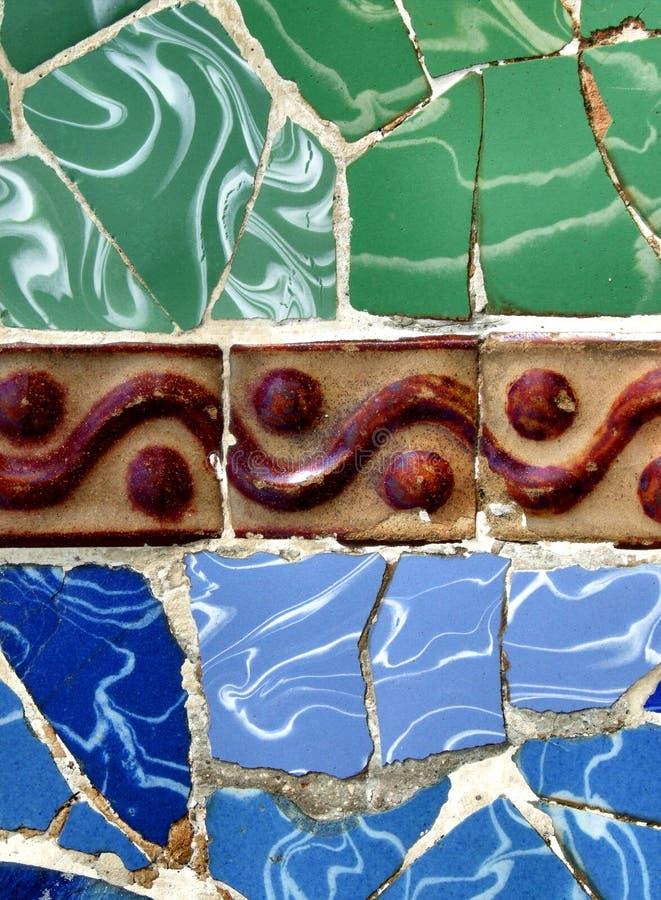 Barcelona mosaic stock image