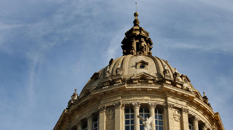 Barcelona museum dome. Elements of the decorated dome of the Museu Nacional d`Art de Catalunya, MNAC, Barcelona, Spain, July 2016 royalty free stock photo